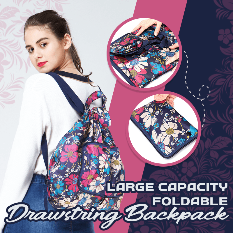 Large Capacity Foldable Drawstring Backpack 1688 Orchid
