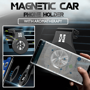Magnetic Car Phone Holder With Aromatherapy 1688 Black Holder