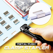 Load image into Gallery viewer, Metal Push Clamp Stapler 1688 Black+8PCS Clamps