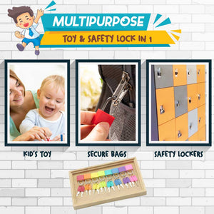 Montessori Matching Colorful Key hvashop