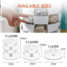 Load image into Gallery viewer, Multi-Layers Rotating Socks Storage Box 1688 3-Layers