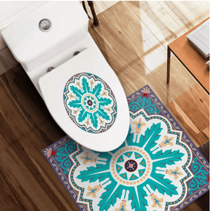 Nordic Self-Adhesive Waterproof Toilet Stickers 1688 Leaf