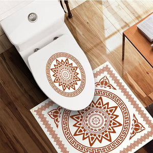 Nordic Self-Adhesive Waterproof Toilet Stickers 1688 Red
