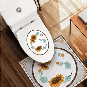 Nordic Self-Adhesive Waterproof Toilet Stickers 1688 Sunflower