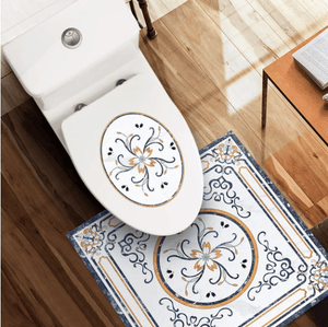 Nordic Self-Adhesive Waterproof Toilet Stickers 1688 White