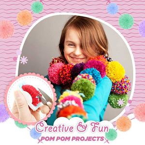 Perfect Pom Pom Maker Kit 4pcs Set(12 Free Yarn Balls) 1668