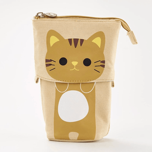 Pop Up Cute Kitten Pencil Case 1688 Brown Cat