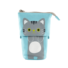 Load image into Gallery viewer, Pop Up Cute Kitten Pencil Case 1688 Grey Cat