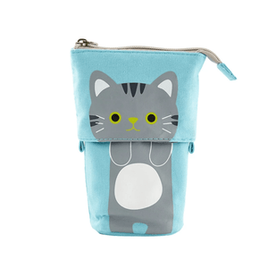 Pop Up Cute Kitten Pencil Case 1688 Grey Cat