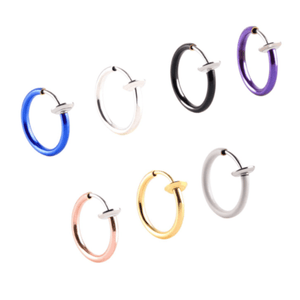 Retractable Easy Earrings 1688 Black 2 Pairs