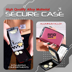 RFID-Proof Alloy Secured Slim Wallet 1688