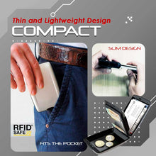 Load image into Gallery viewer, RFID-Proof Alloy Secured Slim Wallet 1688