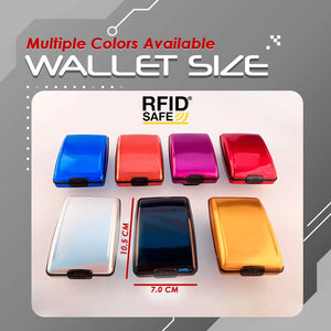 RFID-Proof Alloy Secured Slim Wallet 1688 Orange