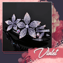 Load image into Gallery viewer, Rhinestone Brilliant Double Flower Hair Clips 2PCS 1688