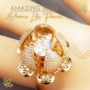 Rotatable Blooming Rose Ring 1688