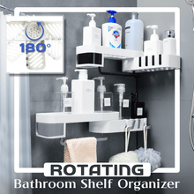Load image into Gallery viewer, Rotating Bathroom Shelf Organizer 1688 White-Gray