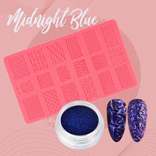 Load image into Gallery viewer, Sculpted Nail Art Mold Set 1688 Midnight Blue