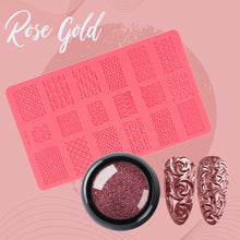 Load image into Gallery viewer, Sculpted Nail Art Mold Set 1688 Rose Gold