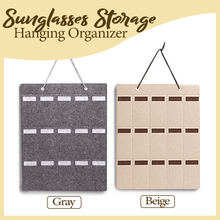 Load image into Gallery viewer, Sunglasses Storage Hanging Organizer 1688 Khaki