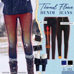 Thermal Fleece Denim Jeans 1688