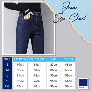 Thermal Fleece Denim Jeans 1688 Jeans S Blue