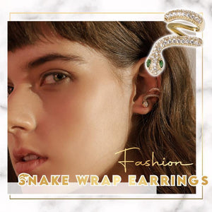 Trendy Snake Wrap Earrings 1668 Right Ear