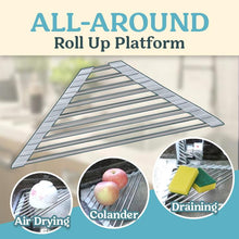 Load image into Gallery viewer, Triangle Roll Up Dish Drying Rack 1688