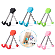 Load image into Gallery viewer, Tripod Folding Phone and Tablet Stand 1688 Red