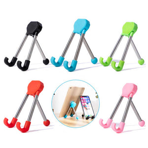 Tripod Folding Phone and Tablet Stand 1688 Red