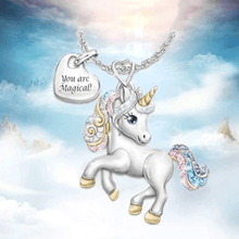Load image into Gallery viewer, Unicorn Necklace 1688 1 Necklace Set