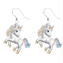 Load image into Gallery viewer, Unicorn Necklace 1688 1 Pair of Earrings