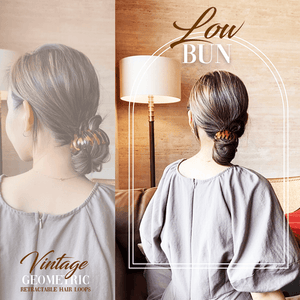 Vintage Geometric Retractable Hair Loops-2PCS 1688