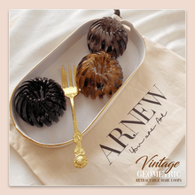 Load image into Gallery viewer, Vintage Geometric Retractable Hair Loops-2PCS 1688 Brown