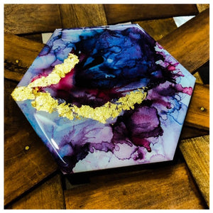 Alcohol Ink and Resin Online Tutorial with Lexi Grenzer