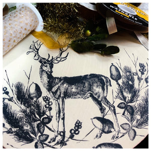 "Winter Stag - 6"" x 8"" Polymer Stamp Sheet"