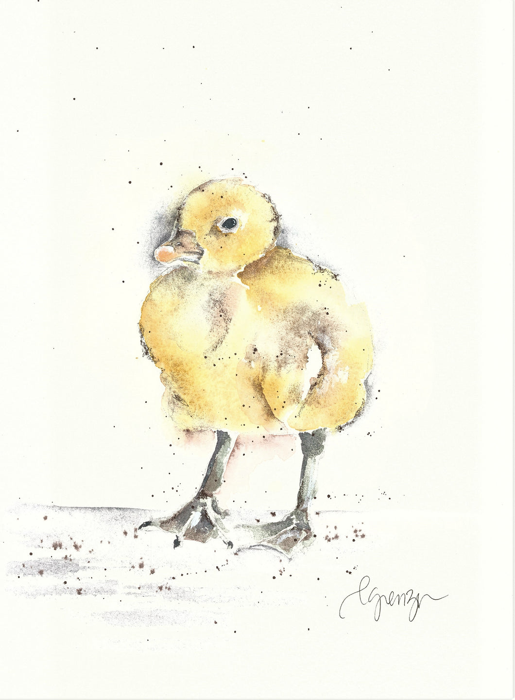 Dink the Gosling - Original Watercolor by Lexi Grenzer