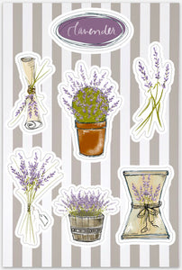 Lavender Die-Cut Sticker Sheets