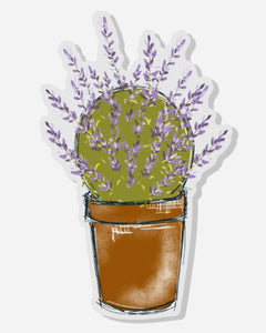 Lavender Topiary Acrylic Pin