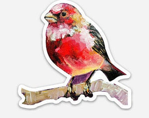 Red Bird Die-Cut Sticker