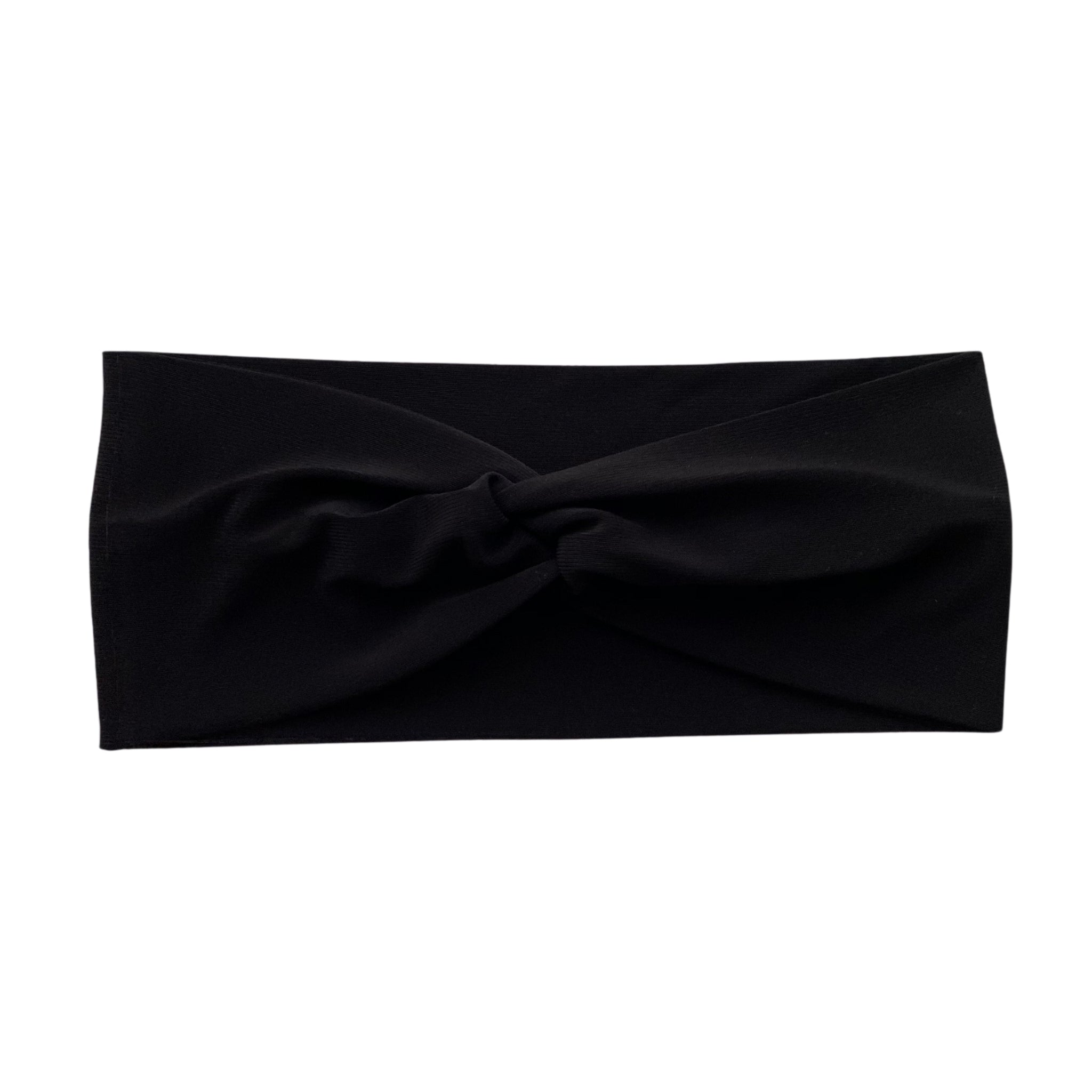 Solid black semi-shiny faux knot headband