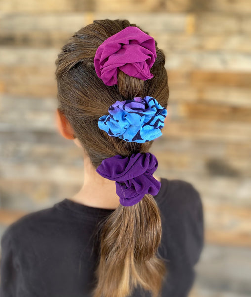 aurora ombre scrunchie matte Pipevine Designs in hair