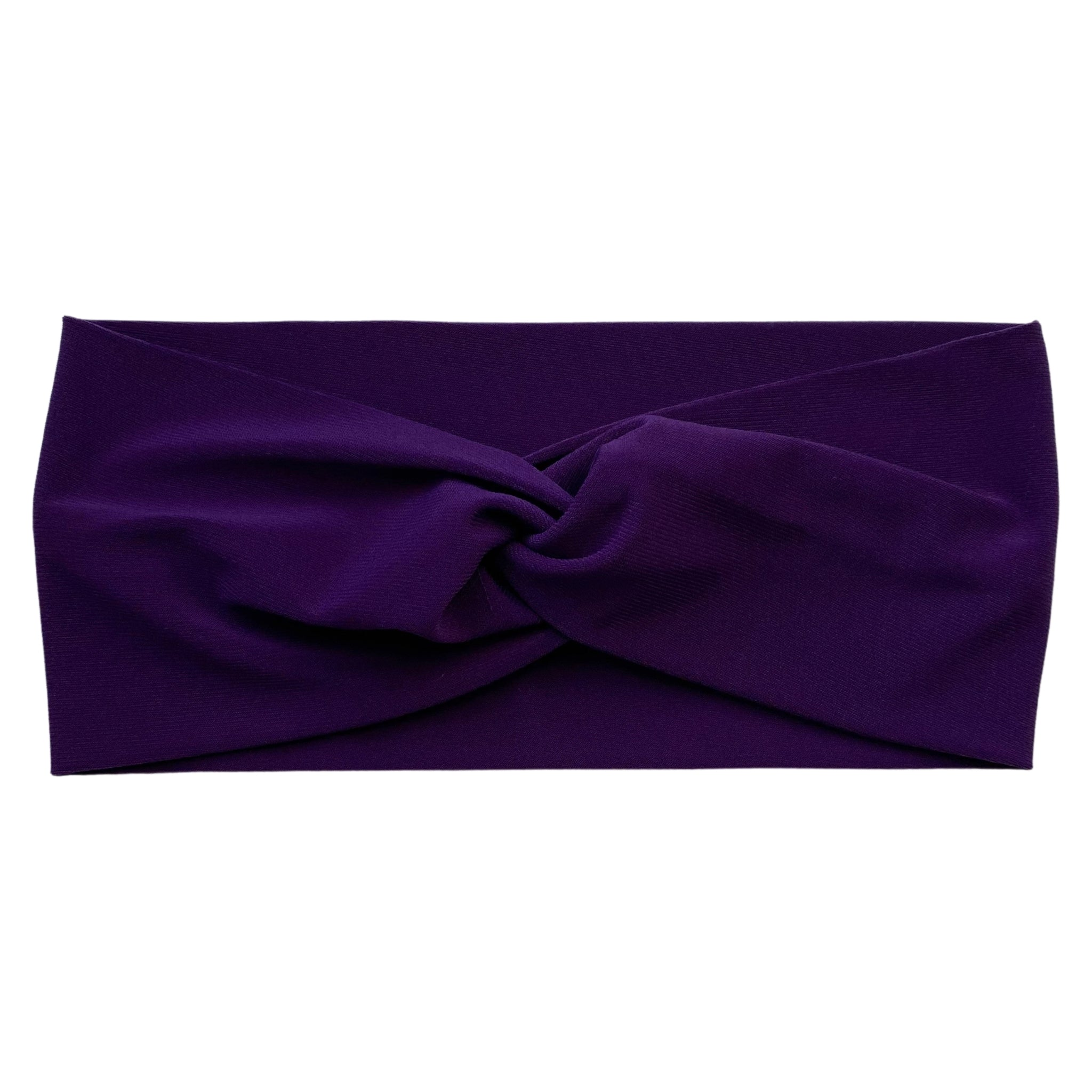 dark purple ice faux knot headband Pipevine Designs