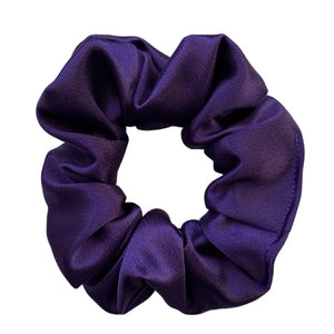 dark orchid purple satin scrunchie