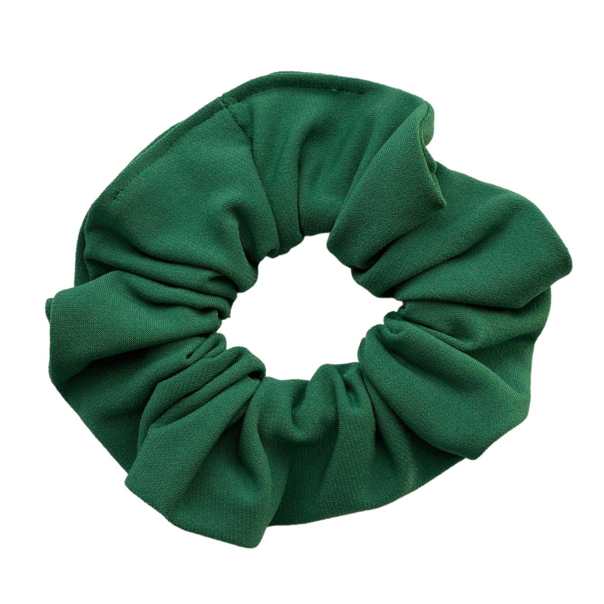 solid Kelly green ice scrunchie