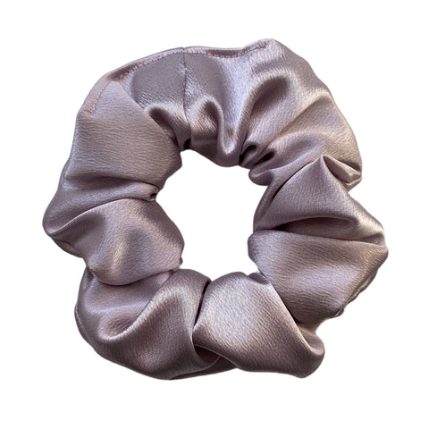 light lavender satin scrunchie