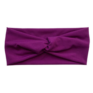 magenta ice faux knot headband Pipevine Designs