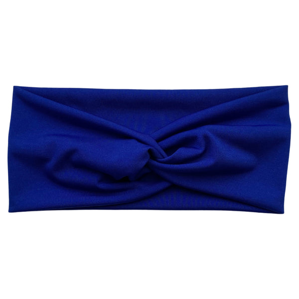 royal blue ice faux knot headband Pipevine Designs