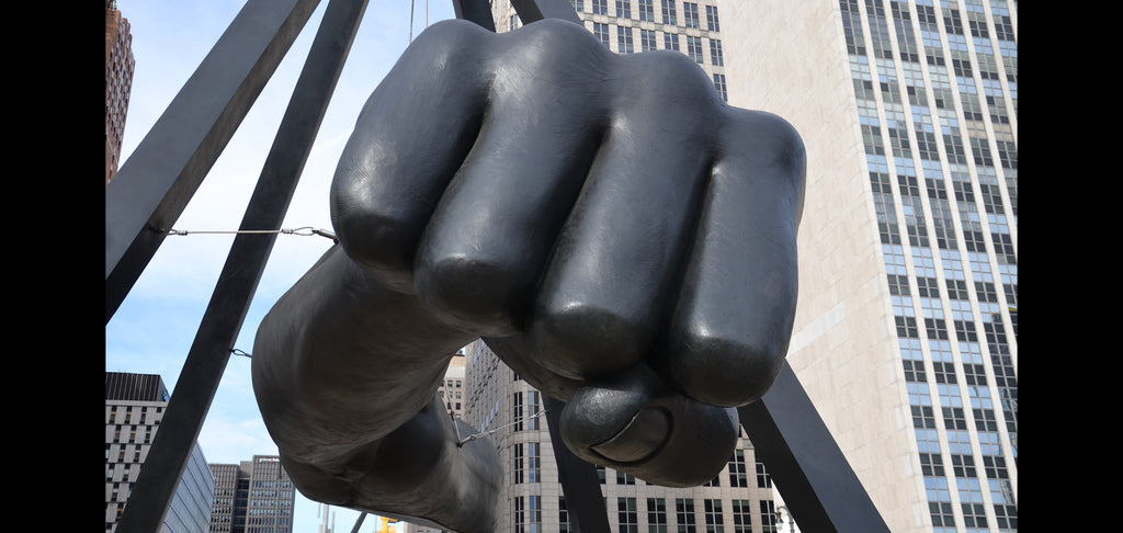 Monument to Joe Lewis (The Fist) Jefferson and Woodward