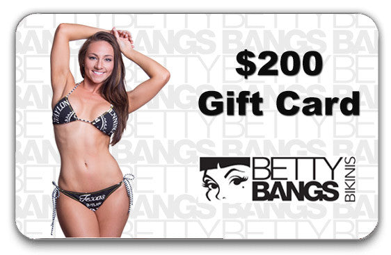 $200 Gift Card - Betty Bangs Bikinis