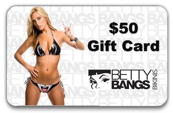 $50 Gift Card - Betty Bangs Bikinis
